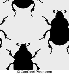 beetle seamless - Creative design of beetle seamless
