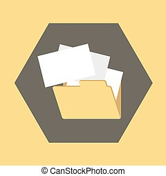 imaginative folder symbol - Creative design of imaginative...