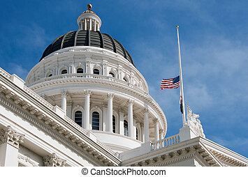 California State Capitol Building - Dome of California State...