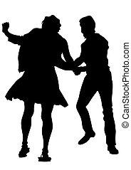 Pair of sport dancers