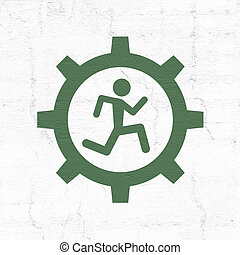 imaginative run symbol - Creative design of imaginative run...
