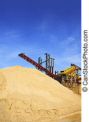 construction sand quarry stock mountain machinery -...
