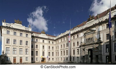building of the President.Prague - View of the building of...