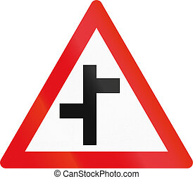 Road sign used in the African country of Botswana -...
