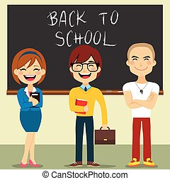 Teachers Set - Collection set of different female and male...