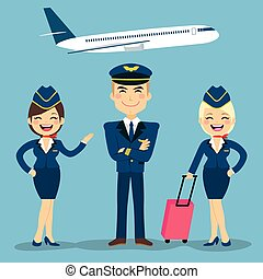 Aviation Crew Members - Professional aviation crew members...
