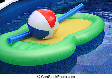 Pool and water toys - Water and pool with inflatable toys,...