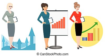 Illustration of office workers on a white background -...
