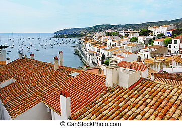 Aerial view of Cadaques, Spain