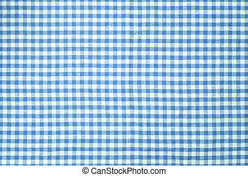 Blue checkered tablecloth background - Blue checkered...