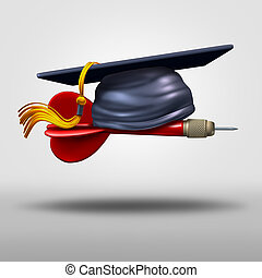 Graduation Goal - Graduation goal concept as a school...