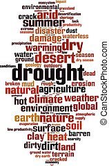 Drought-vertical.eps - Drought word cloud concept. Vector...