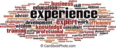 Experience-horizoneps - Experience word cloud concept Vector...