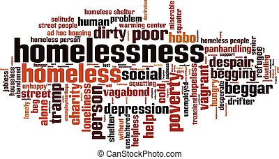 Homelessnesseps - Homelessness word cloud concept Vector...