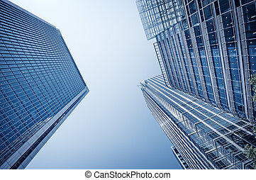 Toned picture of Canary Wharf, London.