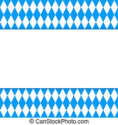 Oktoberfest background with empty frame for your text