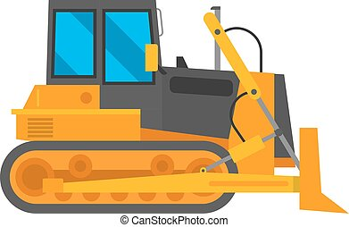 Vector excavator illustration isolated - Vector excavator...
