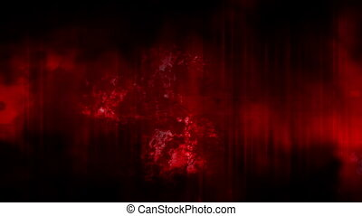 Grime grunge looping red abstract - Animated CG grime grunge...