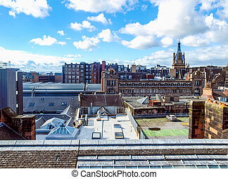 Glasgow picture HDR - High dynamic range HDR Aerial view of...