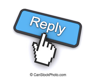 reply button - cursor clicking on the reply button on the...