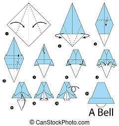 origami A Bell - step by step instructions how to make...