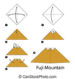 origami A Fuji Mountain - step by step instructions how to...