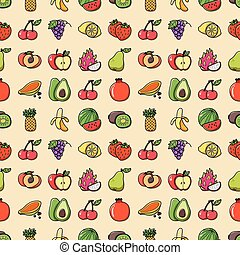 Fruits and vegetables icons set,eps10