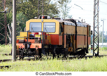 Railcar for maintenance of the railway and security checks....