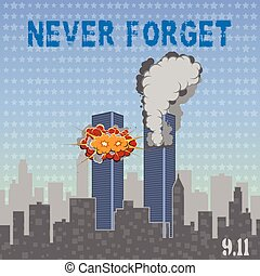 USA memorial day 9th of september. Patriot day 9 11. Never forget.