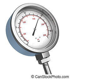 manometer - 3d illustration of manometer over white...