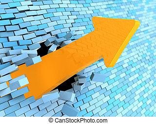 breaking wall