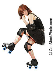 Roller derby girl - Photograph of a roller derby girl posing...