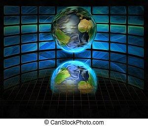 Globe and screens