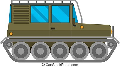 Military cross-country vehicle vector - Army vector car and...