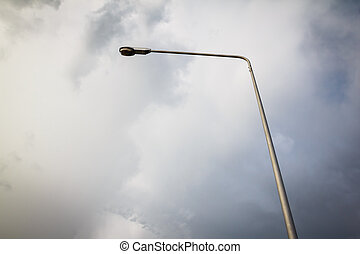 lamp pole with dark clound - the lamp pole with dark clound...