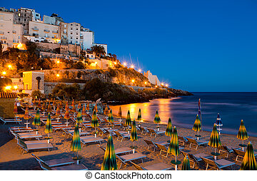 Evening view of the Italian city of Sperlonga - Evening view...