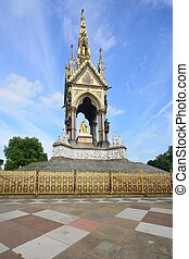Albert Memorial with Paving at front