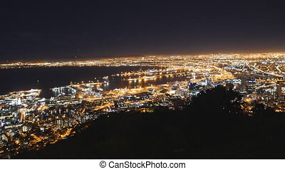 Night View of Cape Town from Signal Hill - Cape Town, South...