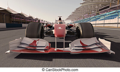 formula one race car - high quality 3d rendering of a...