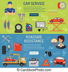 Car Service Banners - Car Service and Roadside Assistance...