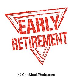 Early retirement stamp