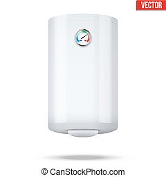 Boiler realistic vector illustration. - Water classic heater...