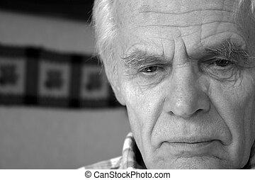 Elderly man - Closeup of elderly man looking depressed