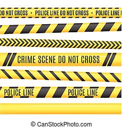 Police Line Set. Vector - Police Line Set. Different...
