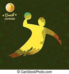 Brazil summer sport card with an ye