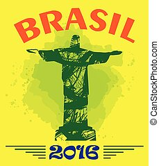 Abstract Brasil 2016 design with st