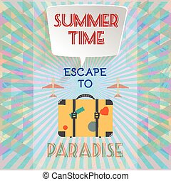 Abstract summer time infographic
