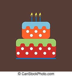 Candy card with a big fruit cream c