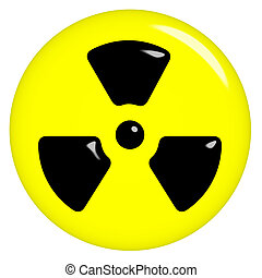 3D Radioactive Symbol - 3d radioactive symbol isolated in...