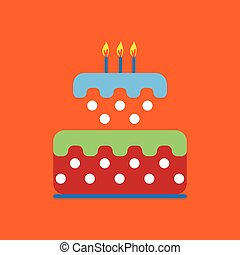 Candy card with a big colored cream